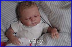 CUSTOM MADE REBORN! Leah ooak fake BABY life Like vinyl art ARTIST DOLL