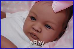 CUSTOM MADE Reborn Bi-Racial AA SHYANN ooak baby lifelike vinyl art ARTIST doll