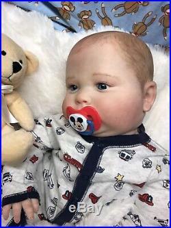 CUSTOM ORDER Reborn Boy Art Doll Baby Joseph 24 Lifelike, Realborn