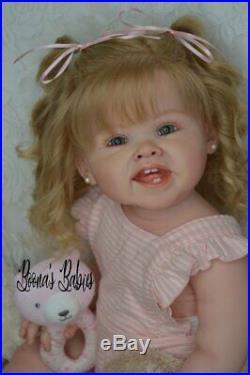 CUSTOM ORDER! Reborn Doll Baby Girl Toddler Adele by Ping Lau Human Hair