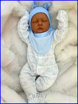 Cherish Dolls Cuddle Baby Reborn Doll Dontay Biracial 20 Material Body & Limbs