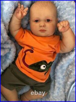 Cherish Dolls Realborn 3 Month Big Baby Joseph Reborn Doll Boy Awake