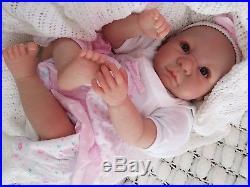 Chunky Big Child`s Reborn Brown Eyed Baby Doll Soft Silicone Vinyl Sunbeambabies