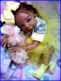 Custom orders (AA), Ethnic Realistic Baby Girl or Boy Doll, Kyra