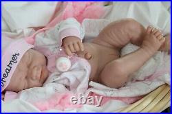 DREAMER BABY GIRL! Berenguer Life Like Reborn Preemie Pacifier Doll + Extras
