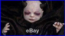 Demon Baby Reborn Doll Horror Elises Wicked Womb Nursery Horns Devil Asmodeus