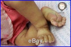 Ethnic AA Reborn Baby Girl Doll Yasmine Sydney by Marita Winters