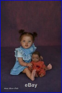 Ethnic AA biracial Reborn baby toddler lifelike art doll Jamina lIIORA