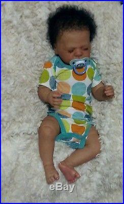 Ethnic Biracial AA Hispanic full bodied silicone vinyl reborn baby boy doll