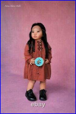 Ethnic lifelike reborn child art doll by Prototype artist Anna Sheva IIORA