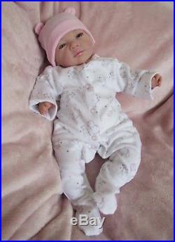 Eyes Open Reborn Baby GIRL Doll, Bunny. #RebornBabyDollArtUK