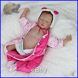 Full Body Reborn Baby Dolls 22Inch Realistic Girl Babies Dolls Npk Silicone New