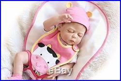 Full Body Silicone Baby Doll Girl Anatomically Correct 22'' Reborn Newborn NEW