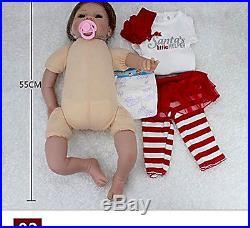 Full Body Silicone Reborn Baby Doll Girl Dolls Babies Npk ORIGINAL Cute New