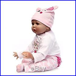 Full Body Silicone Reborn Baby Doll Soft Vinyl 22inch Magnetic Mouth Babies