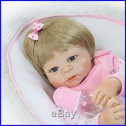 Full Body Silicone Vinyl Reborn Baby Doll Girl Washable Lifelike 22'' Newborn