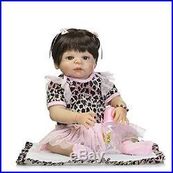 Full Body Silicone Vinyl Reborn Baby Doll Newborn Lifelike 22'' Handmade NEW