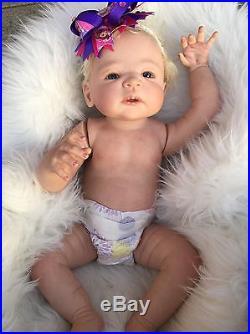 Full Body Silicone Vinyl Reborn Baby Doll Victoria By Sheila Michaels