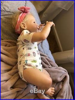 Full Body Vinyl Reborn Big Baby Girl Doll Victoria Sheila Michael 3 Month Size