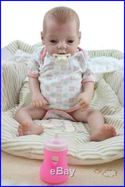 Full Body Vinyl Silicone 22 Reborn Baby Girl Dolls Vivid Anatomically