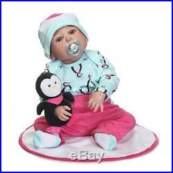 Full Silicone Body Realistic Reborn Baby Dolls Girls Anatomically Correct 22'