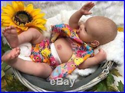 Full Soft Vinyl Childrens Reborn Doll Baby Girl Mica Realistic 22 Painted Hair