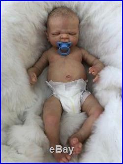 Full Vinyl Childrens Reborn Doll Baby Boy Maddox Realistic 22 Painted Hair