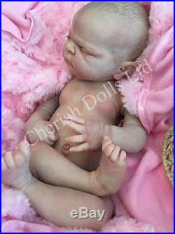Full Vinyl Childrens Reborn Doll Baby Girl Maggie Realistic 22 Painted Hair