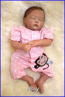 Full Silicone Reborn Baby Doll 20 Lifelike Soft Vinyl Real