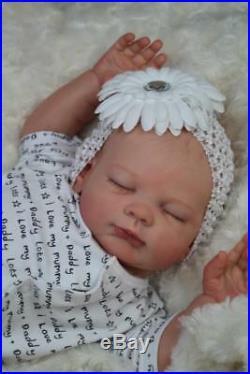 Gorgeous Reborn Lucy Kewy Baby Girl Doll Nubornz Nursery Painted Hair