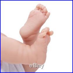 Handmade Lifelike Baby Boy Doll Silicone Vinyl Reborn Newborn Dolls +Clothes NEW