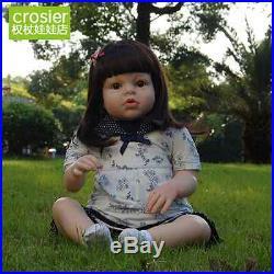 Handmade Lifelike Baby Girl 28'' Doll Silicone Vinyl Reborn Newborn Dolls toys