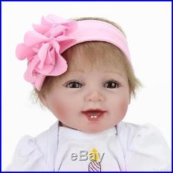 Handmade Lifelike Baby Girl Doll 22 Silicone Vinyl Reborn Newborn Dolls+Clothes