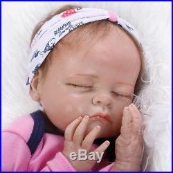 Handmade Lifelike Reborn Baby Silicone Soft Vinyl Dolls Play House Doll+Clothes