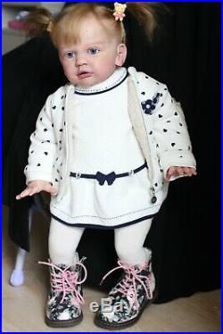 Hyperrealistic Reborn Baby Doll Toddler Tayra by Gudrun Legler 26'