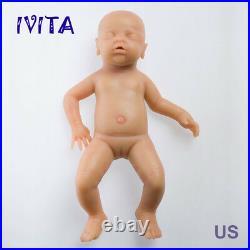 IVITA 18'' GIRL Eyes-closed Baby Doll Full Body Soft Silicone Reborn Infant