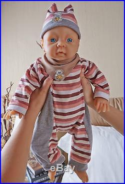 IVITA 20'' Silicone Reborn Baby GIRL Dolls 4 KG Realistic Baby Lifelike Baby
