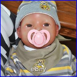 IVITA 20'' Silicone Reborn Baby GIRL Lifelike Doll Toddler Can Take Pacifier