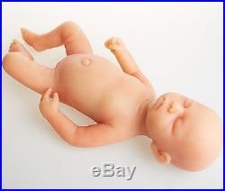 IVITA Lifelike 18'' Eyes Closed Silicone Reborn Baby GIRL 3.2KG Realistic Doll