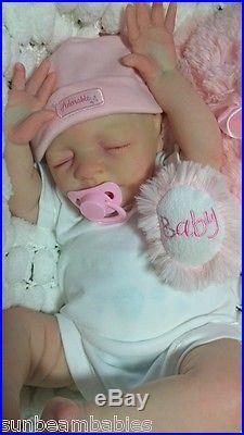 Jessica Schenk Reborn Realistic Newborn Size Fake Baby Girl Lifelike Doll