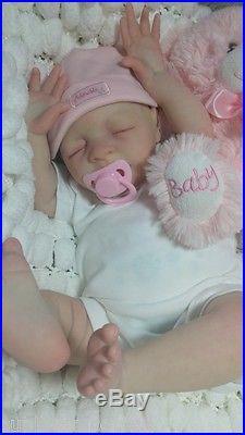 Jessica Schenk Reborn Ultra Realistic Newborn Fake Baby Cute Girl Doll