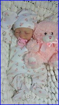 Jessica Schenk Reborn Ultra Realistic Newborn Fake Baby Girl Lifelike Doll
