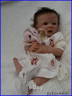 Jackies BabiesReborn baby girldollEllaKarola Wegerichlimited edtn
