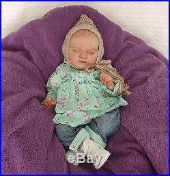 Kendras Garden Babies Reborn Scarlett, Bonnie Brown Lifelike vinyl baby doll