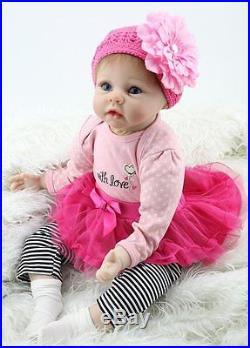 Lifelike Baby Doll Realistic Newborn Reborn Girl Vinyl