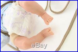 Lifelike Handmade Baby Boy Doll Silicone Vinyl Reborn Newborn Dolls Cute Gift