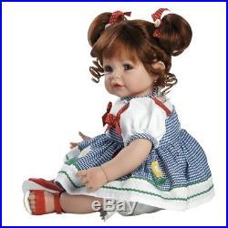 Lifelike Handmade Realistic Vinyl 20 inch Toddler Girl Doll Gift Great to Reborn