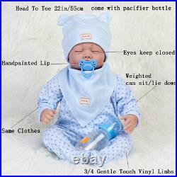 Lifelike Newborn Silicone Vinyl Reborn Dolls Handmade Baby Boy Soft Full Body US