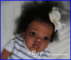 Lifelike ethnic reborn doll, Jamina by Petra SEIFFERT, art piece