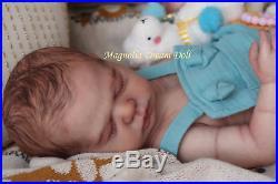 Magnolia Dream Doll Reborn baby boy Harper 19.5''Full Body Anatomically correct